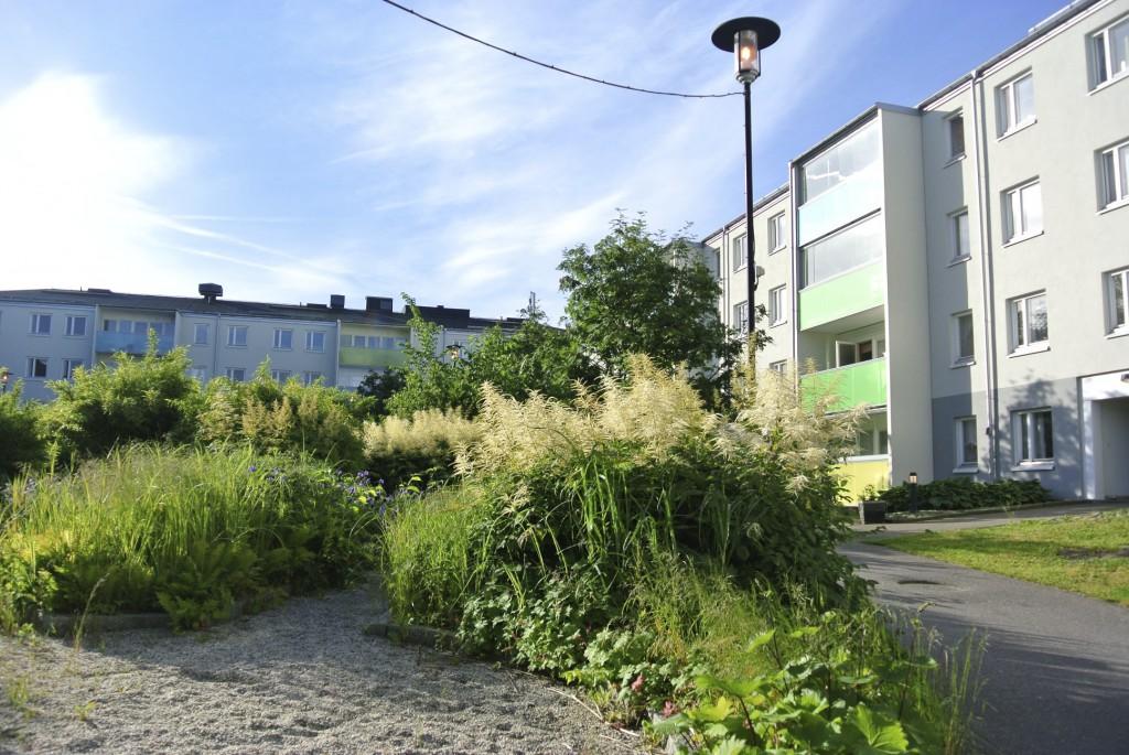 Värdens Park är trädgård och mötesplats för såväl boende i området som besökare utifrån.