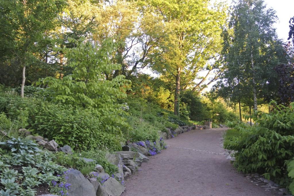 Stigar tar besökaren genom parkens olika teman, det är en härlig blandning av olika typer av växter. Det ger både höjd och karaktär till planteringarna som ser naturliga ut.